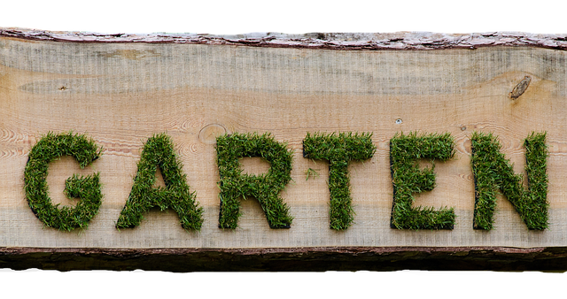 """Schild mit Aufschrift """"Garten"""""""